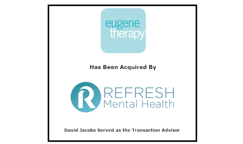 Refresh Mental Health Acquires Eugene Therapy